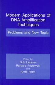 Cover of: Modern Applications of DNA Amplification Techniques |