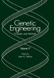 Cover of: Genetic Engineering: Principles and Methods: Volume 20 (Genetic Engineering: Principles and Methods)