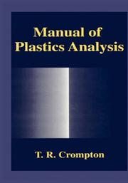 Cover of: Manual of plastics analysis
