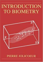 Cover of: Introduction to Biometry | Pierre Jolicoeur