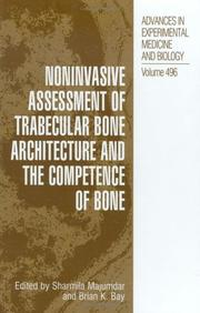 Noninvasive Assessment of Trabecular Bone Architecture & Competence of Bone (Advances in Experimental Medicine and Biology) by
