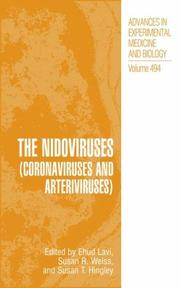Cover of: The Nidoviruses (Coronaviruses and Arteriviruses) (Advances in Experimental Medicine and Biology) |