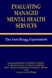 Cover of: Evaluating Managed Mental Health Services | Leonard Bickman