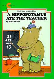 Cover of: A Hippopotamus Ate the Teacher