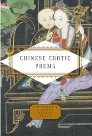 Cover of: Chinese erotic poems