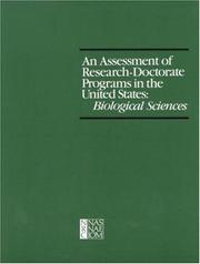 Cover of: An Assessment of research-doctorate programs in the United States-biological sciences |