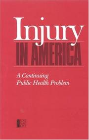 Cover of: Injury in America |