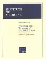 Cover of: Prevention and treatment of alcohol problems