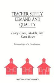 Cover of: Teacher Supply, Demand, and Quality | Committee on National Statistics