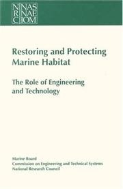 Cover of: Restoring and protecting marine habitat |