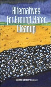 Cover of: Alternatives for ground water cleanup |
