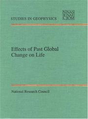 Cover of: Effects of past global change on life |