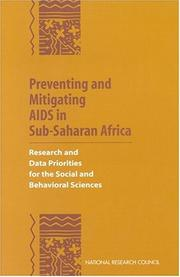 Cover of: Preventing and mitigating AIDS in Sub-Saharan Africa