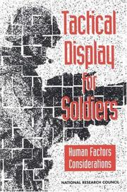 Cover of: Tactical display for soldiers