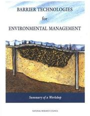 Cover of: Barrier technologies for environmental management |