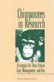 Cover of: Chimpanzees in Research | Committee on Long-Term Care of Chimpanzees