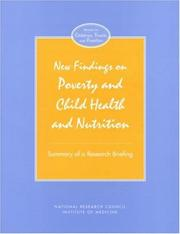 Cover of: New findings on poverty and child health and nutrition |