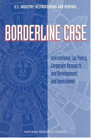 Cover of: Borderline Case | Technology, and Economic Policy Board on Science