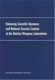 Cover of: Balancing scientific openness and national security controls at the nation