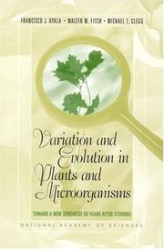 Cover of: Variation and Evolution in Plants and Microorganisms | National Academy of Sciences U.S.