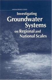 Cover of: Investigating groundwater systems on regional and national scales by