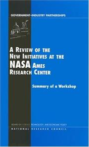 Cover of: A review of the new initiatives at the NASA Ames Research Center by