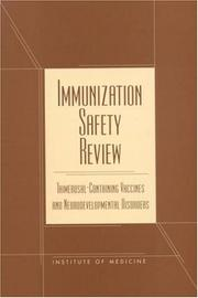 Cover of: Immunization safety review |