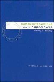 Cover of: Human interactions with the carbon cycle