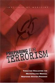 Cover of: Preparing for Terrorism | Committee on Evaluation of the Metropolitan Medical Response System Program