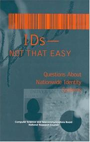 Cover of: IDs--not that easy |