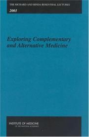 Cover of: Exploring complementary and alternative medicine