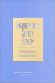 Cover of: Immunization Safety Review | Immunization Safety Review Committee