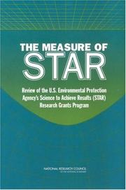 The Measure of STAR by Committee to Review EPA's Research Grants Program, National Research Council.