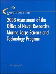 Cover of: 2003 Assessment of the Office of Naval Research