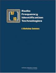 Cover of: Radio Frequency Identification Technologies | Committee on Radio Frequency Identification Technologies