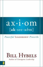 Cover of: Axiom