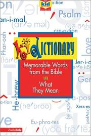 Cover of: Kidictionary | Rick Osborne