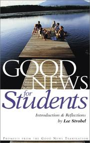 Cover of: Good News for Students (Good News) | Zondervan Publishing Company