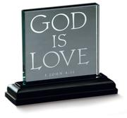 Cover of: God is Love Mini Standing Glass Plaque |