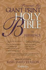 Cover of: KJV Giant Print Reference Bible, Personal Size Bronze Edition, Indexed |