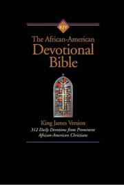 Cover of: KJV African-American Devotional Bible, The |