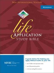 Cover of: NIV Life Application Study Bible, Indexed |