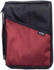 Cover of: Canvas Black/Burgundy Bible Cover |