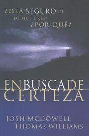Cover of: Enbuscade Certeza by Josh McDowell