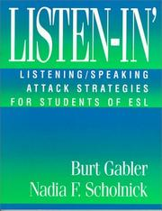Cover of: Listen-In' | Burt Gabler, Nadia F. Scholnick