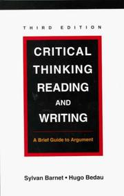 Cover of: Critical Thinking, Reading and Writing |