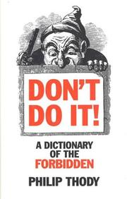 Cover of: Don't do it!
