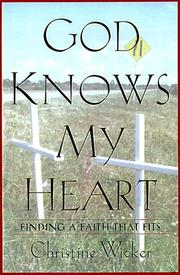 Cover of: God knows my heart