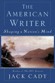 Cover of: The American Writer