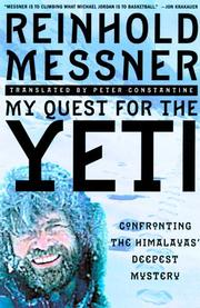 Cover of: My Quest for Yeti | Reinhold Messner